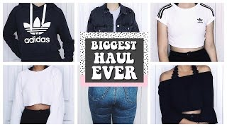 BIGGEST BACK TO SCHOOL CLOTHING HAUL EVER 2017 | Adidas, Urban Outfitters, Zara, H&M, Topshop