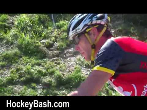 Lance Armstrong Team Radio Shack Tour De France runs into some Cattle