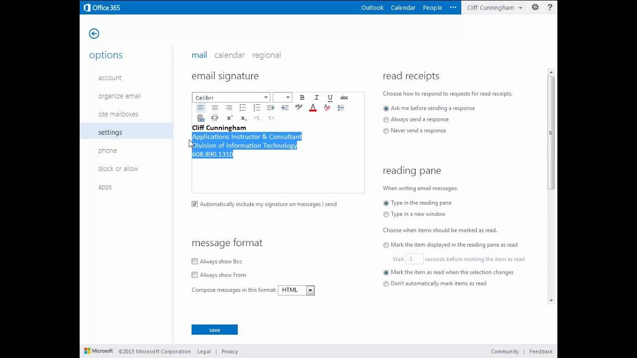 8. Office 365- Creating a Template for Outlook Email :: Tech Hub