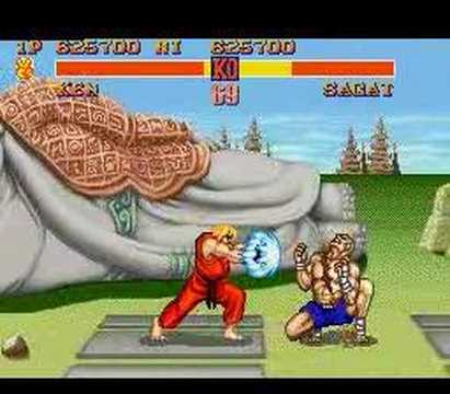 Ken vs Sagat - Street Fighter II - SNES
