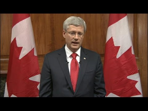 Prime Minister Stephen Harper on Ottawa shooting