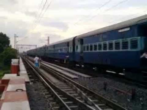 A Express Train Train Running On Bridge video