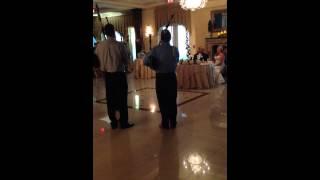 Tom's performance at Erin's wedding