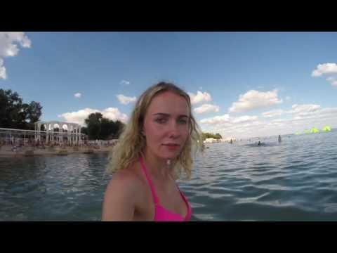 Евпатория 2016. Первый раз ныряя с GoPro hero 3+ в воду Yevpatoria