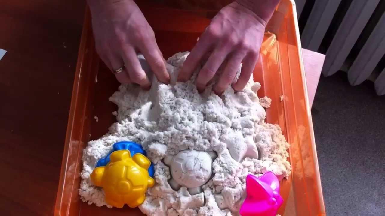 Кинетический песок для детей своими руками в домашних условиях 90