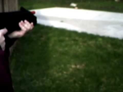 shooting a full auto bb machine gun not airsoft co2