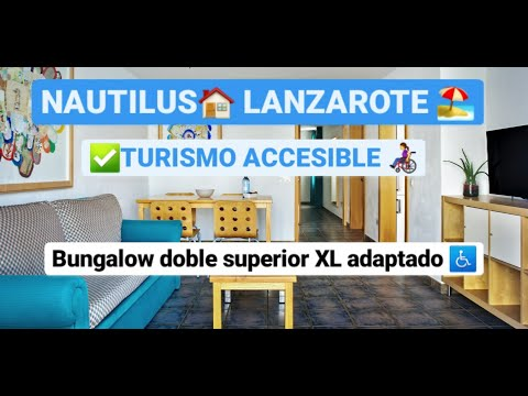 Bungalow doble superior XL accesible en Nautilus Lanzarote by Equalitas Vitae