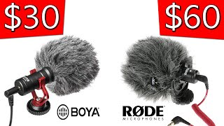 The best budget YouTube Microphone | Rode Videomicro | Boya BY-MM1