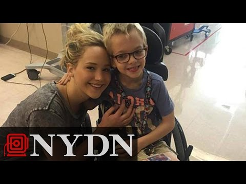 Jennifer Lawrence Breaks From Filming X-Men, Visits Children's Hospital in Montreal