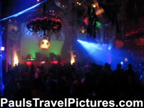 Seminole Hard Rock Hotel Casino Hollywood FL Opium Night Club Halloween 2010 Gogo Pole Dancer Girls Dance Floor Costumes