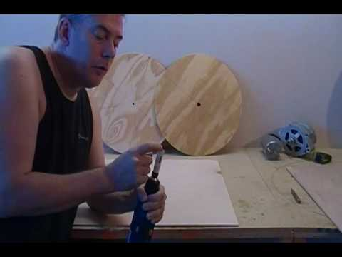 Building a Wind Turbine VAWT (Step 2 of 46) - Center Punch and Drill Center