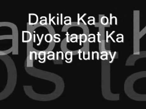 Dakila ka oh Diyos