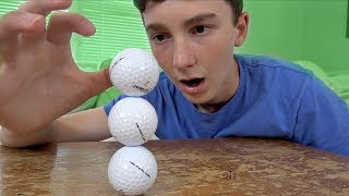 Stacking 3 Golf Balls Challenge! | That's Amazing