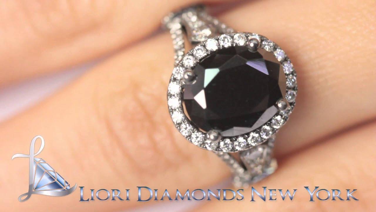 Oval Black Diamond Engagement Rings Black Diamond Engagement