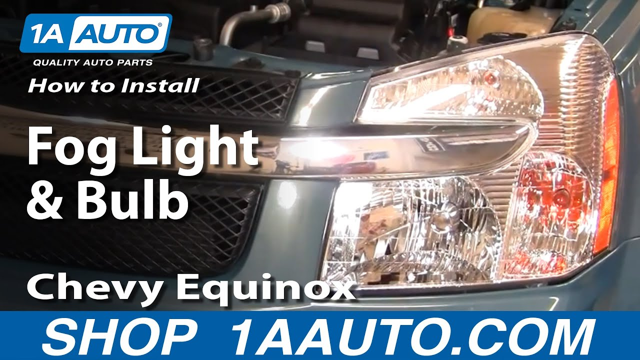 How To Install Replace Fog Light And Bulb Chevy Equinox 07