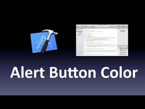 [Xcode] Colored AlertView Buttons