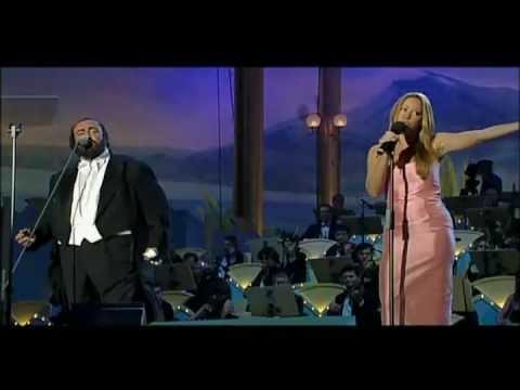 Mariah Carey - Luciano Pavarotti Live Hero video