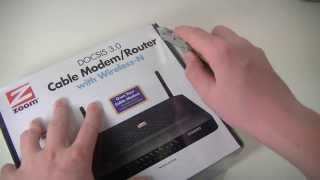ZOOM DOCSIS 3.0 Cable Modem and Wireless-N Router Unboxing