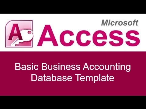Microsoft Access Basic Business Accounting Database Template