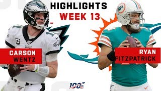 Wentz vs. Fitzpatrick 3-TD QB Battle | NFL 2019 Highlights