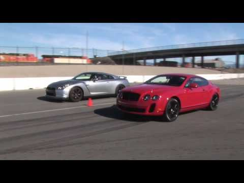 When Worlds Collide: Nissan GT-R Vs Bentley Continental Supe Music Videos