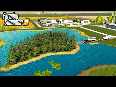 BUILDING A GIANT LAKE FROM SCRATCH! TOOK 2 HOURS  FARMING SIMULATOR 2019