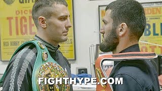 BETERBIEV & GVOZDYK COLD-BLOODED STAREDOWN; INTENSE FIRST FACE OFF IN PHILLY