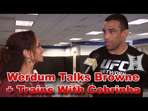 Fabricio Werdum Talks FOX Fight with Browne Trains BJJ with Cobrinha