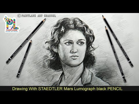 How to Draw and Shade A Female Portrait With PENCIL | step by step Pencil Art