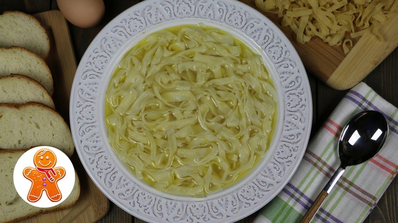 Лапша для куриного супа своими руками