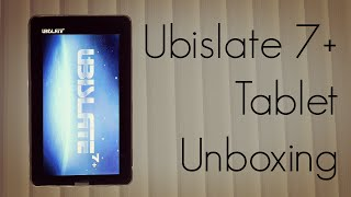 Ubislate 7+ Tablet Unboxing- Upgraded Aakash Package Content