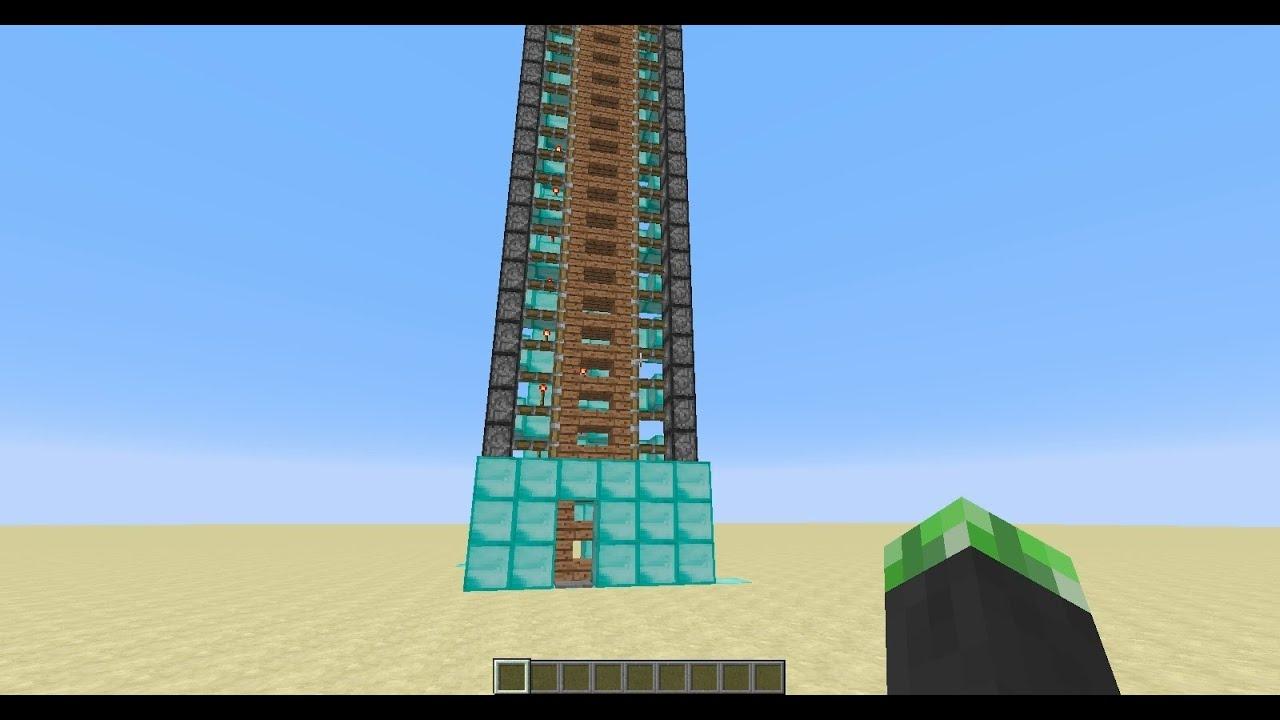 -Minecraft Tutorial- Up and Down Zipper Elevator UPDATE 1 ...