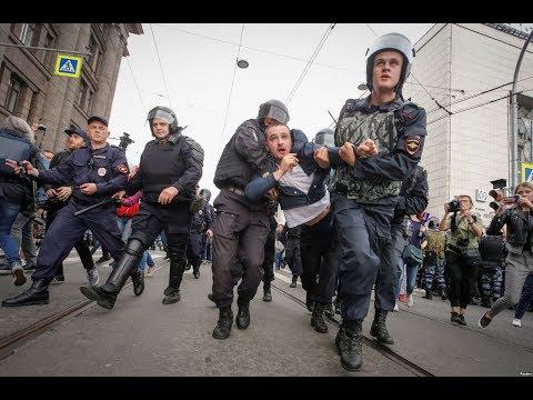 Сотни задержанных в Петербурге 9 сентября