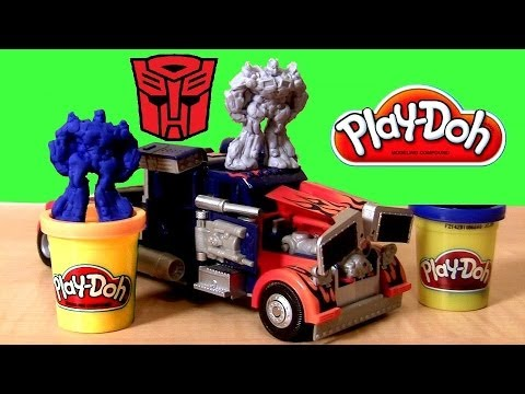 Play Doh Transformers 3 Playset Rescue Bots Bumblebee Optimus Prime Play Dough Dark Side of the Moon