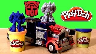 Play Doh Transformers Rescue Bots Optimus Prime Playset Play Dough Dark of the Moon Make Bumblebee