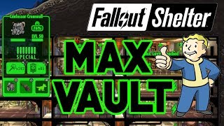 FALLOUT SHELTER MAXED OUT VAULT! MAX EVERYTHING! 200 Dwellers (BEST LAYOUT!)