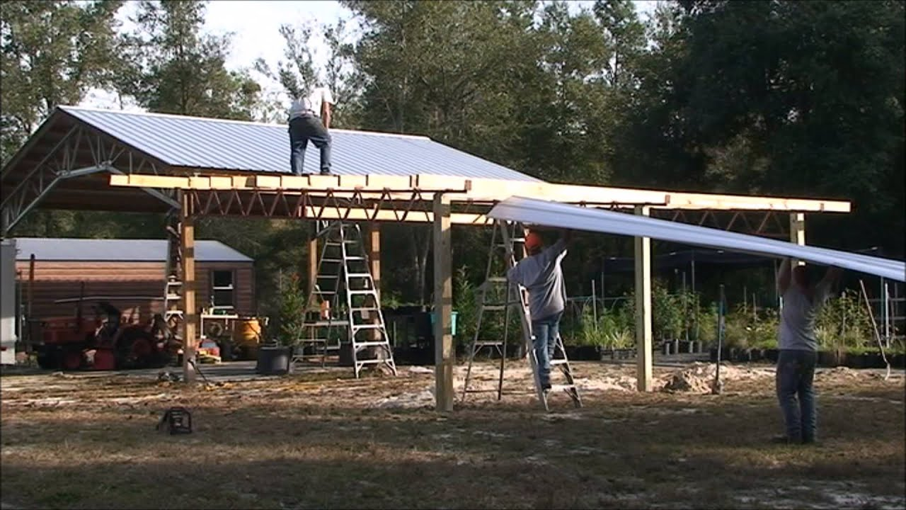 How To Build A Lean On Barn YouTube