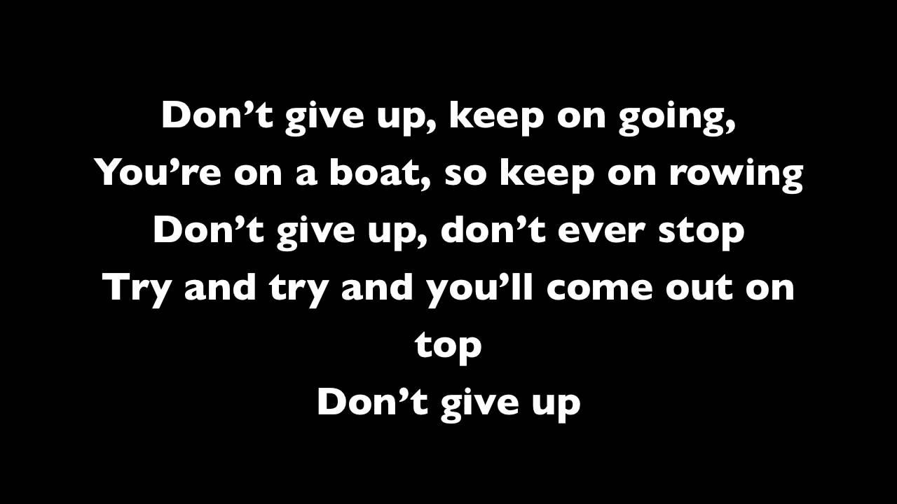 Never, Never, Never Give Up Lyrics