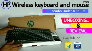 HP wireless keyboard and mouse 200 ‍। ‌Unboxing and review | in hindi