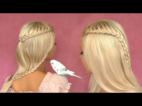 French Lace Braid Tutorial Cute Hairstyle For Short Medium Long Hair