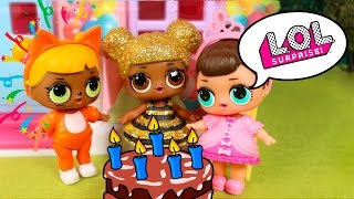 LOL DOLLS Toys Episodes ❤️ Birthday party suprise with the LOL DOll