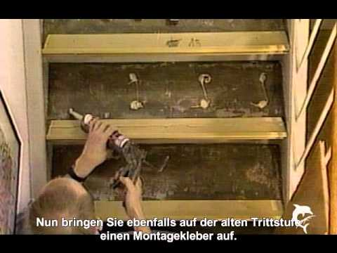 treppenrenovierung leicht gemacht youtube. Black Bedroom Furniture Sets. Home Design Ideas
