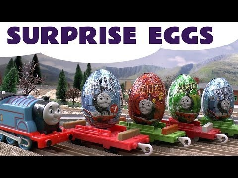 Surprise Egg Unboxing Thomas The Tank Engine same as Kinder Egg Surprise Toys James Percy Kids
