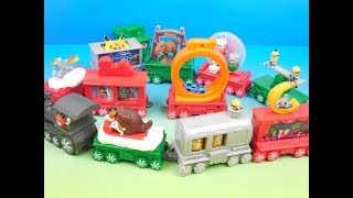2017 McDONALDS HOLIDAY EXPRESS SET OF 12 HAPPY MEAL KIDS TOYS VIDEO REVIEW