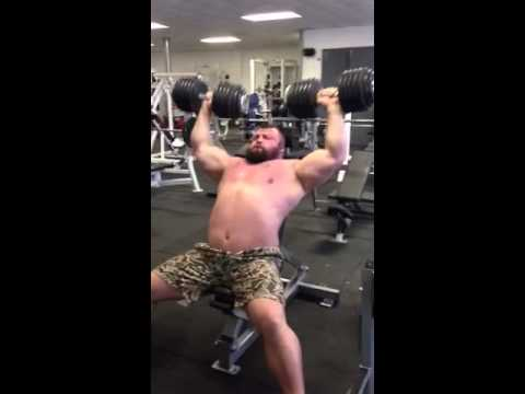 Eddie hall 60kg shoulder press. (Constant pressure techniqu Image 1