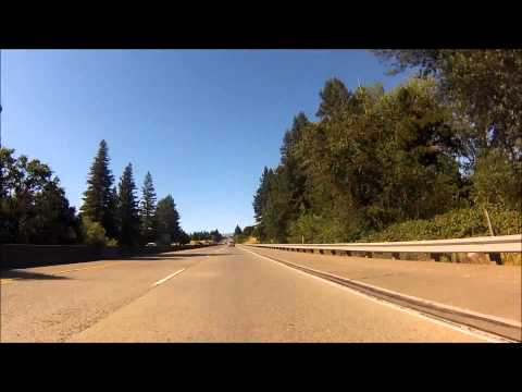 Motorcycle ride from  Marina, CA to Willits, CA (245 miles)
