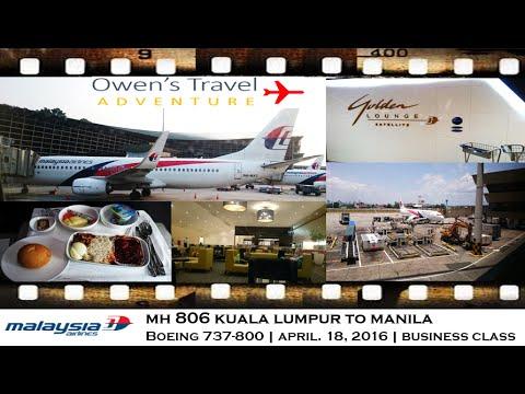 MALAYSIA AIRLINES MH 806 KUALA LUMPUR TO MANILA BUSINESS CLASS BOEING 737 800
