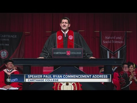 Paul Ryan speaks at Carthage College commencement