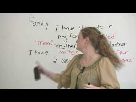 Speaking English - Talking about Family