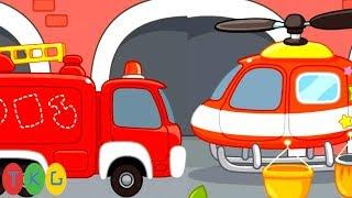 Xe Cứu Hỏa, Máy Bay Trực Thăng - Fire Truck for Kids | TopKidsGames (TKG)